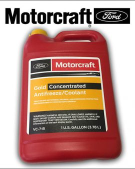 1 X GALLON Engine Coolant Antifreeze – Gold-Concentrated FORD MOTORCRAFT VC-7-B