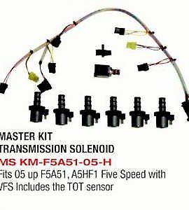 Super Solenoid Kit Fits: ('05-up) F5a51 & A5hf1 Five Speed With Vfs & Tot Sensor