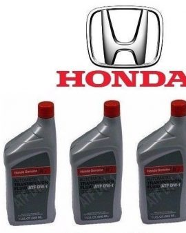 3 X Quarts Genuine Honda Atf Dw-1 Automatic Transmission Fluid For Honda-sale !!