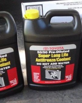 3x Gallons Toyota Super Long Life Antifreeze Coolant 50/50 Pre Diluted- Sale-wow
