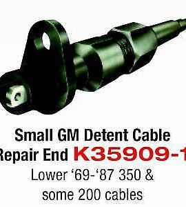 Small Gm Detent Cable Repair End Lower 69-87 Fits 350 & Some 200 Cables Sku# K35