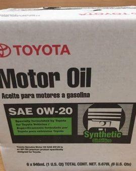6 X Toyota Lexus Genuine 0w20 Synthetic Motor Oil  00279-0wqte – Oem- On Sale !