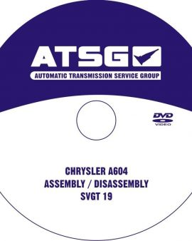 Chrysler A604- ATSG TRANSMISSION DVD&REBUILD MANUAL-TECHTRAN BOOK-GUIDE BOOK&DVD