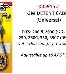 Gm Adjustable Detent Cable 200/200c/250/250c/350/350c