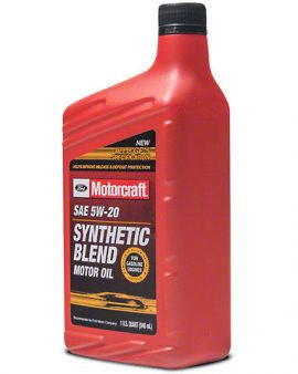 1 X Motorcraft Sae 5w-20 Synthetic Blend Motor Oil Xo-5w20-qsp 5w20 On Sale! Wow