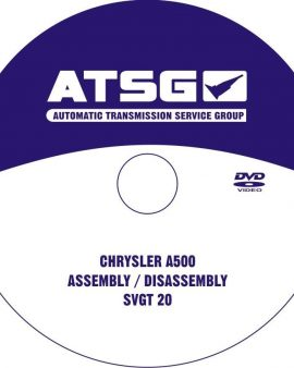 Chrysler A500- ATSG TRANSMISSION DVD&REBUILD MANUAL-TECHTRAN BOOK-GUIDE BOOK&DVD