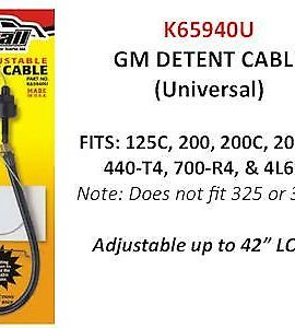 Gm Self-adjusting Universal Detent Cable 125c, 200, 200c, 2004r, 440t4, 700r4, 4