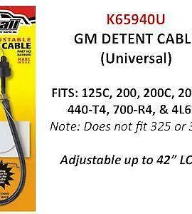 Gm Adjustable Detent Cable 125c, 200, 200c, 2004r, 440t4, 700r4, 4l60e