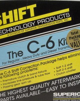 Superior Kc-6-v Ford C6 Transmission Valve Body Hd Shift Kit &hd Boost Valve Kit