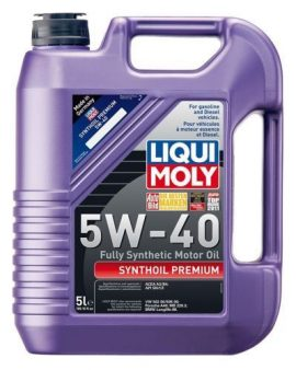 1 X Liqui Moly 2041 Premium 5w-40 Synthetic Motor Oil – 5 Liter Jug Genuine Oem!