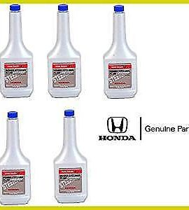5 X Genuine Honda Power Steering Fluid 12 Ounce Bottles Oem High Quality ! Wow !