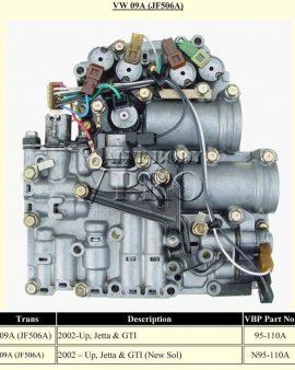 Jf506e-jf506a-09a Valve Body-voltzwagon-jetta Audi A3-sharan 5 Sp.auto-clean