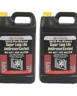 2X Gallons Toyota Super Long Life Antifreeze Coolant 50/50 PRE-DILUTED-GENUINE !