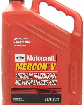 5X QUARTS MERCON V Automatic Transmission and Power Steering Fluid GENUINE FORD