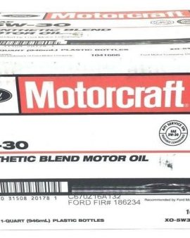 Motorcraft Sae 5w-30 Synthetic Blend Motor Oil Xo-5w30-qsp 1-case Of 12 Quarts